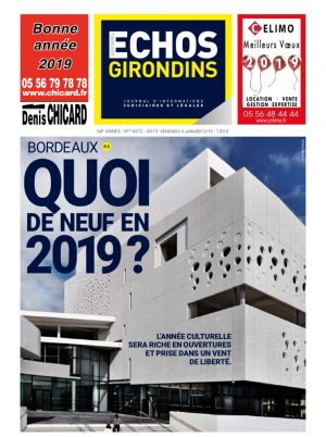 Couverture du journal du 04/01/2019