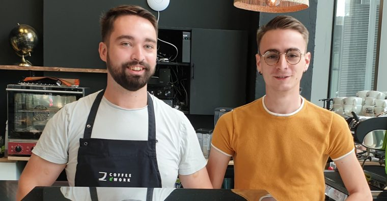 Benoît COSQUER et Baptiste Monnot, fondateurs de Coffee & Work à Bordeaux